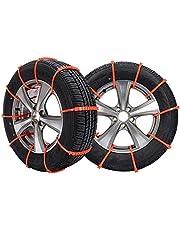 HNVEY タイヤチェーン 非金属 タイヤチェーン 軽自動車 簡単装着 ジャッキアップ不要 車両移動不要 滑り止め タイヤチェーン SC1適応タイヤ: