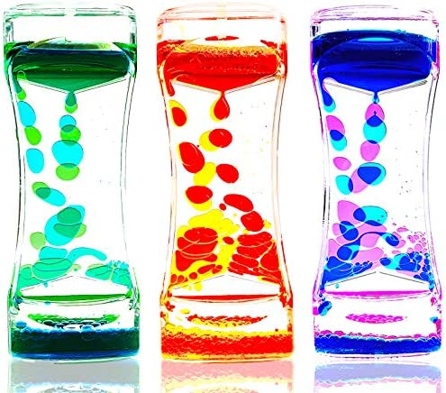 LYPGONE Liquid Motion Bubbler Timer Pack of 3 Hourglass Liquid Bubbler Sensory Toys ADHD Fidget product image