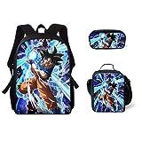 NFBZ® Dragon Ball -3D Zaino per bambini, borsa a tracolla, astuccio per matite, borsa da viaggio, per il tempo libero