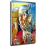 Tankaa Lienzo de Salvador Dalí Surrealismo Cuadro Cuadro Cuadro Cuadro Cuadro Cuadro Cuadro Cuadro Cuadro para Salón Decoración Decoración de Pared 20×30cm Marco