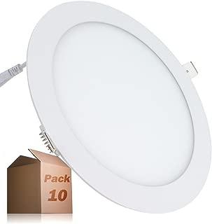 Placa LED Circular SuperSlim 20W (Pack 10) Panel Downlight LED Blanco Neutro 4000k-4500K 1800 Lúmenes ONSSI LED