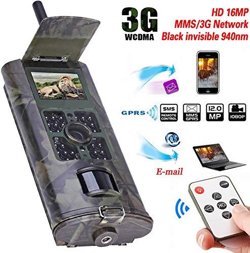 GARDENYEAR 3G Wildkamera Mit Bewegungsmelder Nachtsicht Handyübertragung 16MP 1080P MMS Jagdkamera GSM Wildkamera, 0.5s Auslösezeit, Infrarote 24m 940nm IR LED IP56 Wasserdicht