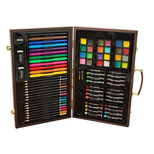HYwot Juego de 85 Piezas Pintura Crayones, Acuarelas, Pasteles al Óleo, Lápices...