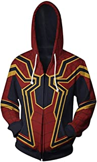 Superhero Halloween Cosplay Costume Mens Sweat Shirt Hoodie Jacket with Zipper/Cotton/Unisex/Womens