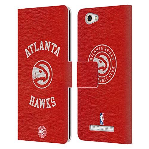 Head Case Designs Offizielle NBA Verzweifelt 2019/20 Atlanta Hawks Leder Brieftaschen Huelle kompatibel mit Wileyfox Spark X