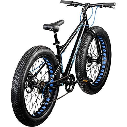 Galano 26 Zoll Fatbike Fatman Mountainbike MTB Hardtail 4.0 fette Reifen Fahrrad (schwarz/blau) - 3