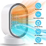 Laluztop DH-QN04 Electric Heater Cooler, PTC Ceramic Space Heater 600W Portable Fan Heaters
