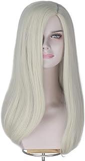 Miss U Hair Girl Women's Long Wavy Straight Wig Platinum Blonde Cosplay Costume Wig