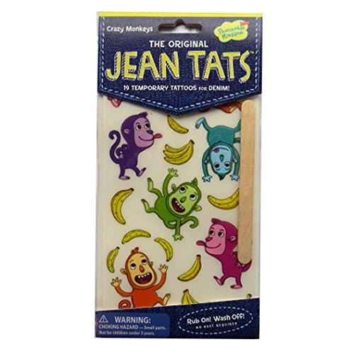 L'original Jean / Denim / Tissu Tatouages - Singes Fous - par Peaceable Kingdom