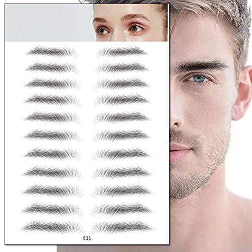 Symeas 4D Cheveux-Comme Authentique Faux Sourcils Toilettage Forme Brow Shaper Maquillage Sourcils Tatouage Étanche Longue Imitation Écologique Paresseux Naturel Tatouage Autocollants À Sourcils
