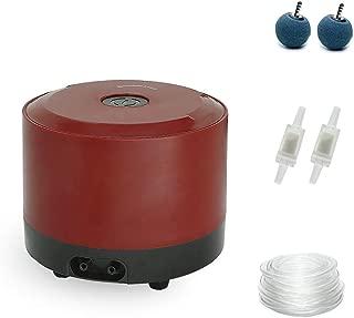 boxtech Aquarium Air Pump, Ultra Quiet Adjustable Air Aerator Pump 126GPH/190GPH for 10-150 Gallon Fish Tank