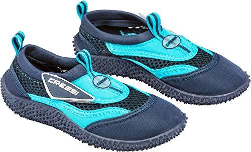 Cressi Coral Jr - Kinder Badeschuhe für Pool und Strand, Mehrfarbig (Blau/Hellblau), 35 EU