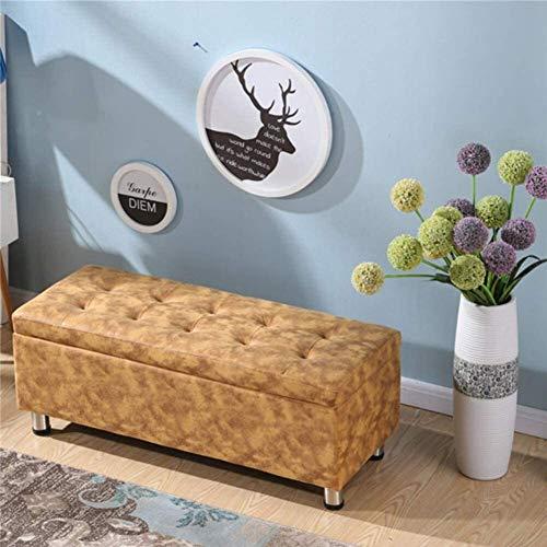 tgbnh Banco di legno GR-XMD, sgabello per stoccaggio ottomano antiscivolo, scatola di stoccaggio pieghevole rettangolare scatola di stoccaggio 70 litri, per soggiorno, camera da letto, sgabello divano