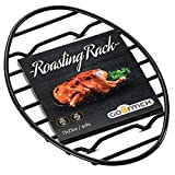 GOURMEX Oval Roasting Rack with Integrated Feet, Black, Non-Stick Whitford Coating, PTFE-Free | Oven...