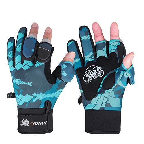 RUNCL RAGUEL Warm Winter Fishing Gloves, Touch Screen Outdoor Fishing Gloves