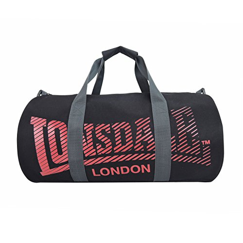 Lonsdale Barrel Sporttasche Schwarz/Rot One Size