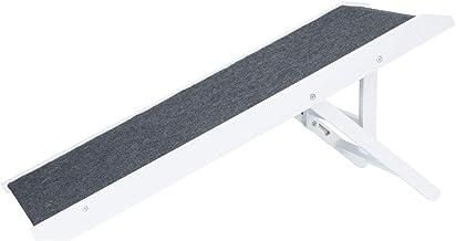 Trixie Rampa para Perros Plegable - Rampa Antideslizante Escalera Perros Madera Interior Altura Ajustable 29/36/43 cm