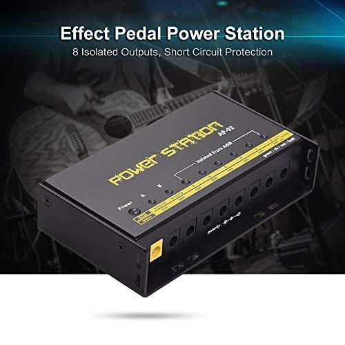 KKmoon Pedal de guitarra Alimentação 8 Saídas DC para 9 V / 12 V / 18 V Efeito Pedal Boards Power Station Box Plug UE