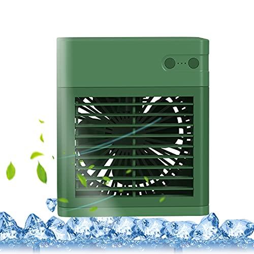Tinked Enfriador de Aire de Escritorio Ventilador Personal pequeño Ventilador de Escritorio USB Enfriador de Aire silencioso Ventilador de refrigeración Ventilador de luz nocturnaAire Acondicionado