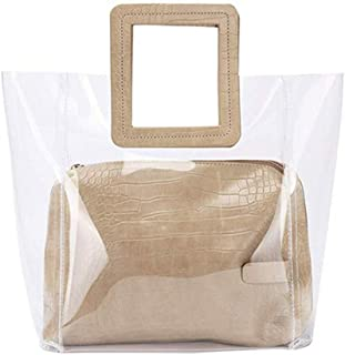 coach clear beach bag