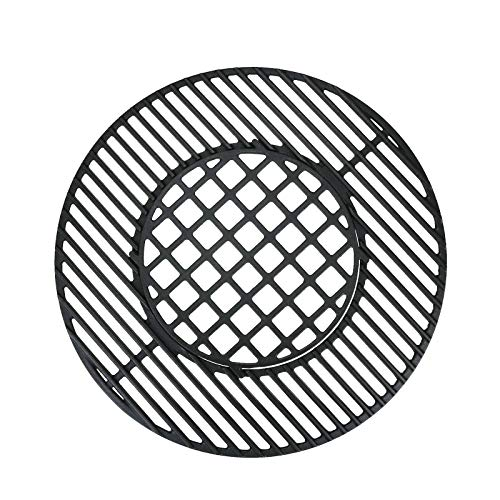 QuliMetal Cast Iron Gourmet BBQ System Cooking Grate for 22 1/2 Inches Weber Charcoal Grills, 22.5 Inches Grill Grate Grids Replaces for Weber 8835