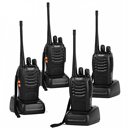 Ansoko Long Range Walkie Talkies Rechargeable Two Way Radios FRS/GMRS 16-Channel UHF 2-Way Radio for Adults (Pack of 4)