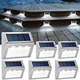 JSOT Solar Powered Deck Lights 6 Pack Wireless Bright LED...