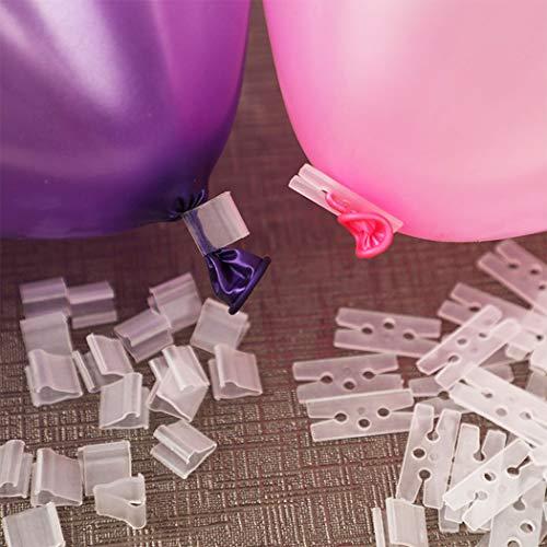 Justdolife 200PCS balloon clip plastic V Shape H Shape Balloon Clip Tie