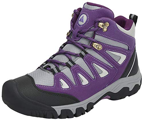 Mishansha Zapatillas Senderismo Hombre Trail Mount Botas Montaña Impermeables Zapatos Trekking Escalada Deportes de Exterior,Púrpura 42 EU