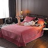 NundU Doppelbett Gesteppte Klimaanlage Quilt Tencel Baumwolldruck Quilts Bohemia Twill Tagesdecke Polyester Bettdecke (200 * 230cm)-B