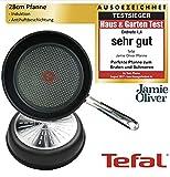 Tefal E75603 Jamie Oliver Harteloxierte Profi Bratpfanne Pfanne 28 cm, Pfanne mit Antihaftbeschichtung, für alle Herdarten geeignet, auch Induktionsherd, Bratpfanne...