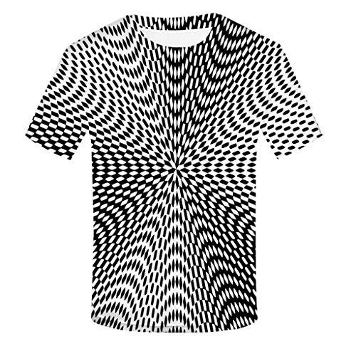 Yowablo T-Shirt Homme Tee Homme Shirt Top Homme Manches Courtes Tee T Shirt Homme (4XL,10Noir)