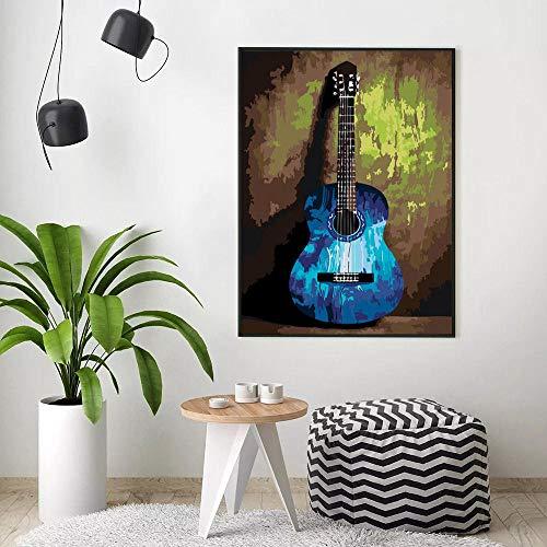 Schilderen op nummer Gitaar Pictures Cadeausets Tekening Canvas Handbeschilderd Muziek Home Decor