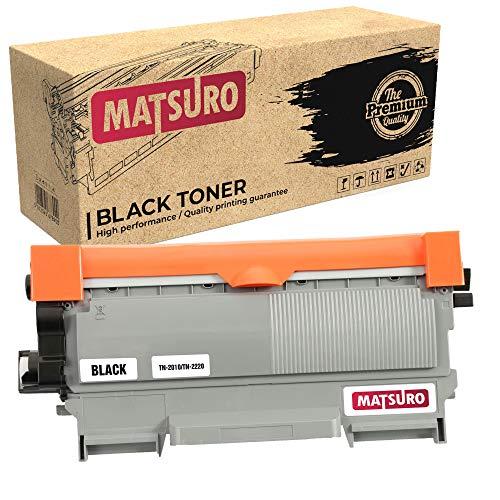 Matsuro Original   Kompatibel Tonerkartusche Ersatz für Brother TN-2010 TN-2220 (1 SCHWARZ)
