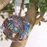 Wool Nesting Ball Bird Nest Farmhouse Style Outdoor Home Decor Gift