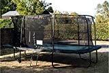 JumpKing 14ft x 10ft Deluxe Rectangular Trampoline with Enclosure