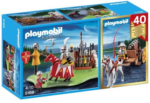 Playmobil - 5168 - Figurine - Compact Set Anniversaire - Tournoi des Chevaliers avec Canon