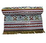 iinfinize – Indischer Kelim-Teppich, Wolle, Jute, Kelim-Teppich, handgewebt, Vintage-Stil, Kelim-Teppich, dekorativer Kelim-Läufer, wendbarer Überwurf, traditionelle Bodenmatte - 4
