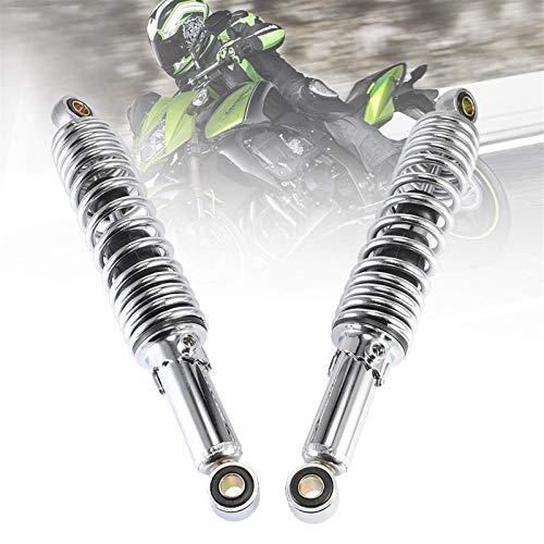 Accesorios universales de la motocicleta Aire Trasero Suspensión 320mm 12 mm para la suciedad Motores de la bicicleta Scooter ATV Quad D20 Amortiguador amortiguador (Color: Gris oscuro), Color: Ejérci