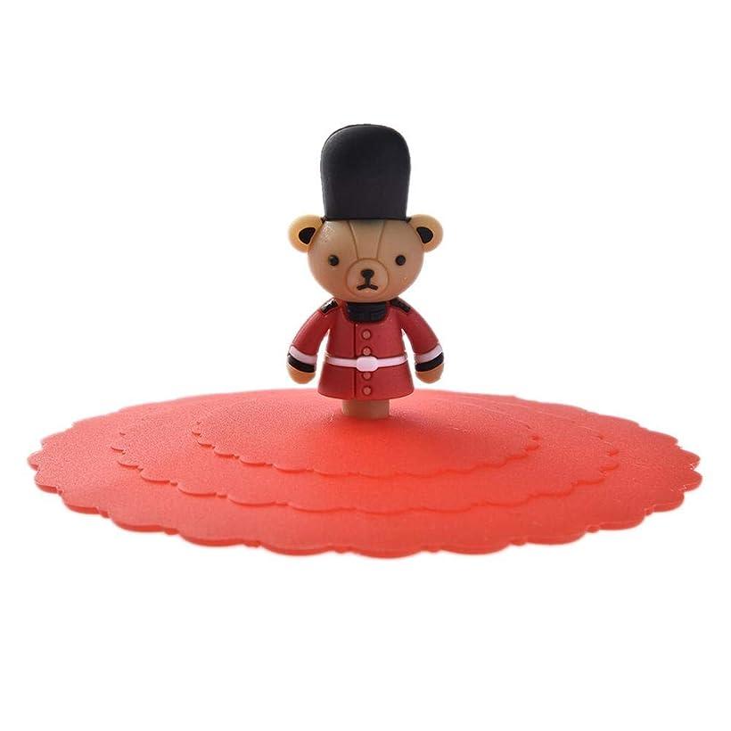 カップ作ります代わりにLUERME カップカバー カップリッド カップ蓋 【3枚】シリコン 再利用可能 防塵 漏れ防止 マグカップ用蓋 小物 ふた カップ保温 コップの蓋 冷めにくい 熊