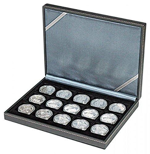 LINDNER Das Original NERA Münzkassette XM mit 15 quadratischen Fächern für Münzen/Münzkapseln bis Außen-Ø 40 mm