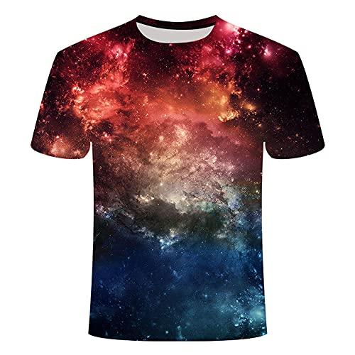 Camiseta Hombre Moderna Moda Creativa Novedad 3D Impresión Ajuste Regular Hombre Casuales Camisa Verano Básico Cuello Redondo Manga Corta Diario Casual All-Match Hombre Shirt T06 4XL