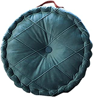 Foxlove Cojín Redondo para Silla Cojines para Asiento Cojines para Sillas De Patio Cojines para Asientos Cojines Suaves Y Cómodos para Sillas con Asa para Decoración del Hogar | 40x40x6cm | Gris Azul
