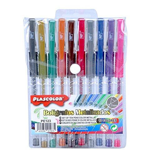 Plascolor PE123 - Pack de 10 Pack de 10 boligrafos