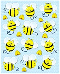 """Bees"" - Shape Stickers"