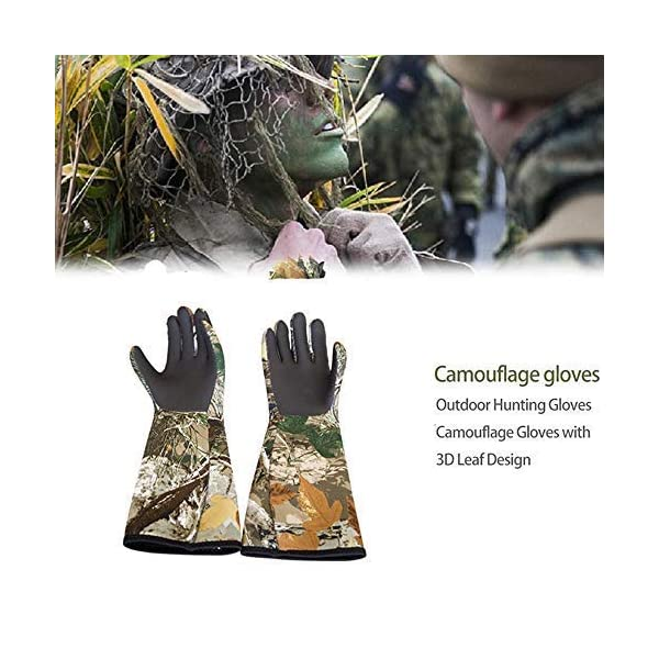 Buyookay Duck Hunting Gloveselbow Length Duck Fishing Gloves Neoprene Textured Grip Insulated Waterproof Hunting Wader Gloves
