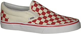 red checkerboard vans