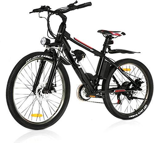 "VIVI 26""Elektro-Mountainbike 350W Elektrofahrrad 36V 8Ah Abnehmbare Batterie E-Bike 32KM/H 21 Gangschaltung Erwachsene E-Bike(schwarz)"