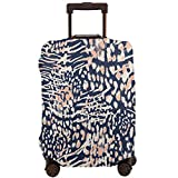 Moslion Leopard Luggage Covers Nature Wild Safari Jungle Animal Tiger Snake Skin Doodle Dot Feather Suitcase Protector Travel Baggage M Cover Fit for 22-24 Inch Luggage