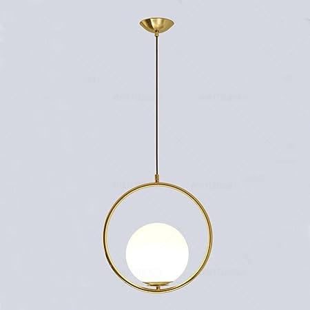 MZStech Moderne Mode Suspension Lampe Fer Verre LED Luminaire Suspension Boule Verre Vec Du Métal Doré (Or)